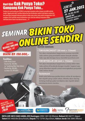 Seminar Bikin Toko Online Sendiri