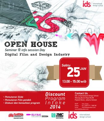 "Open House IDS : Seminar & Info Session Day ""DIGITAL FILM AND DESIGN INDUSTRY"""