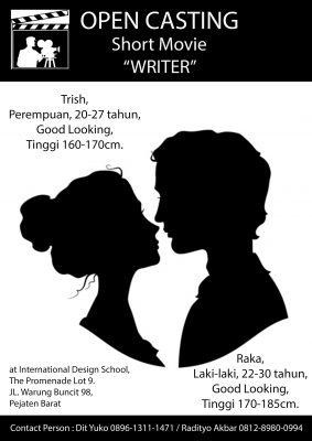 """Casting Film Pendek """"WRITER"""""""