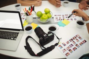 Graphic designers working in office