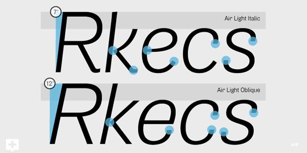 3-Air-font-family-Light-vs-Oblique-degree