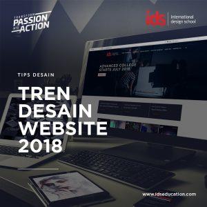 tren desain website 2018