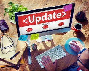 Digital Online Update Upgrade Office Working Concept