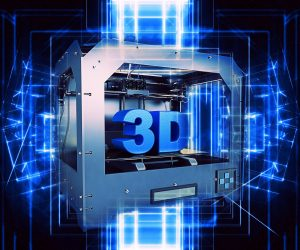 3d printer with futuristic effect